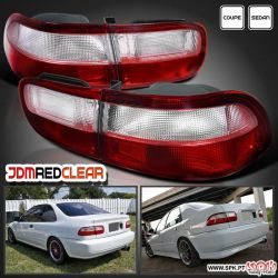 FAROLINS JDM RED+CLEAR HONDA CIVIC EG/EH/EJ